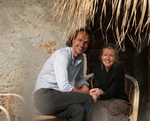 Antje Scheucher mit ihrem Mann